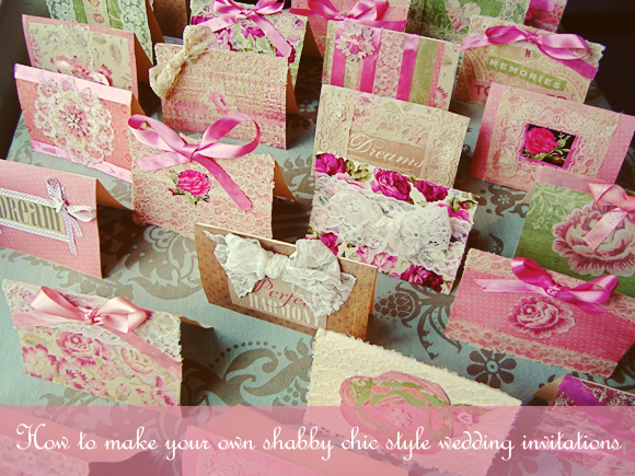 How To Create Your Own Shabby Chic Style Wedding Invitations… | Love ...