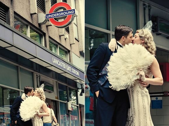 A 1920s Inspired City Chic London Wedding Vintage Dinner Suits