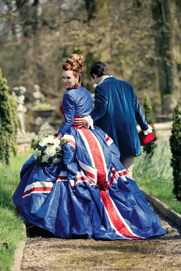 British flag wedding dress