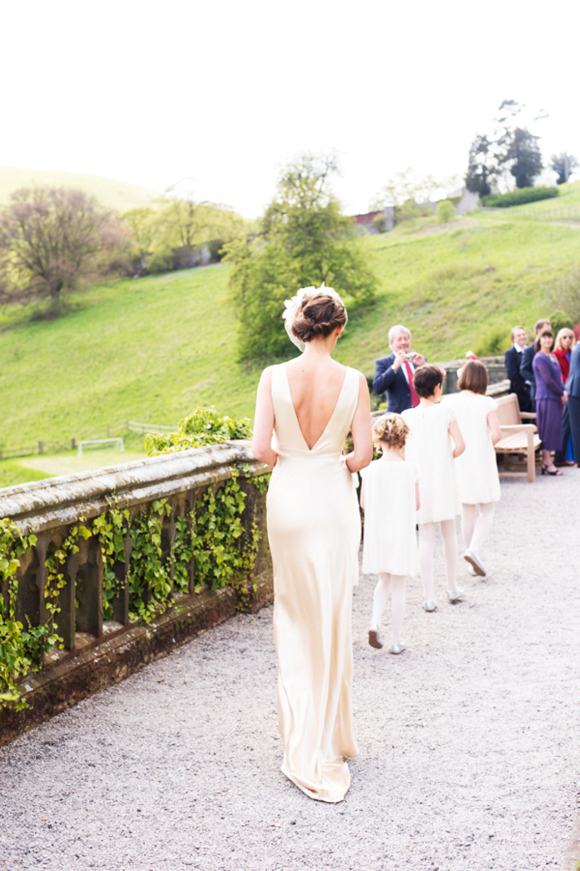 A 1940s Inspired Silk Wedding Dress For A Relaxed And Elegant