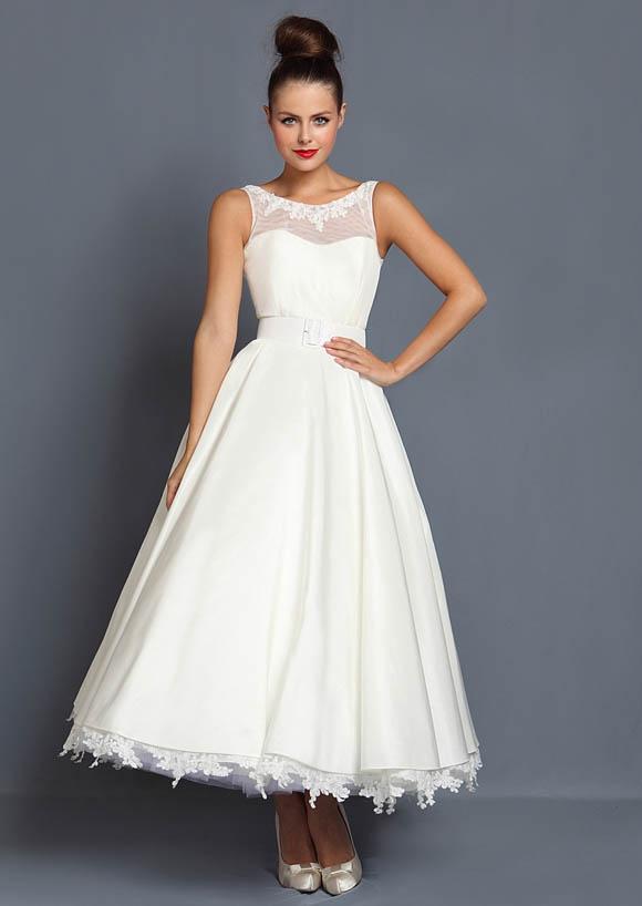 Tea Length Wedding Dresses From the 1950s