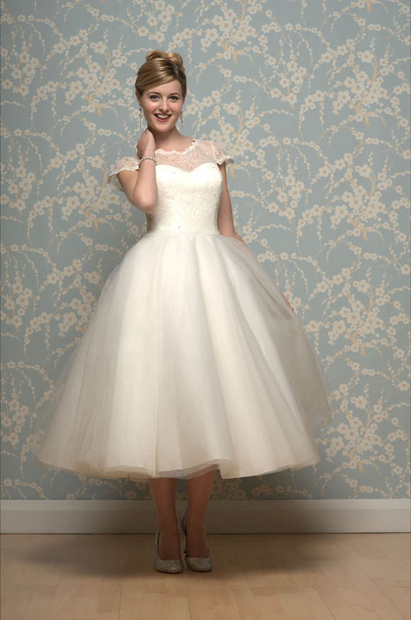 Short Wedding Dress 1950s