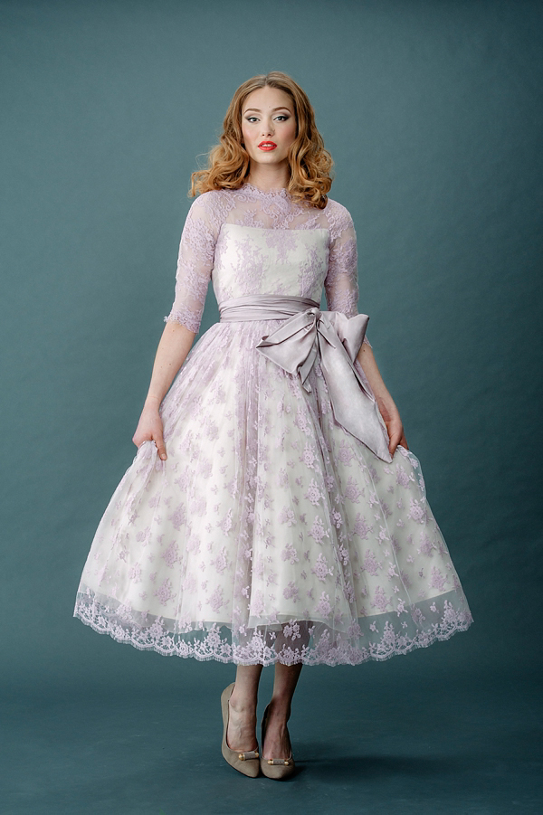 ac3cf0290487 aafbcccdfb pi - Femmes Fatale and French Fancies ~ Tinted Lace and Tea  Length Wedding Dresses