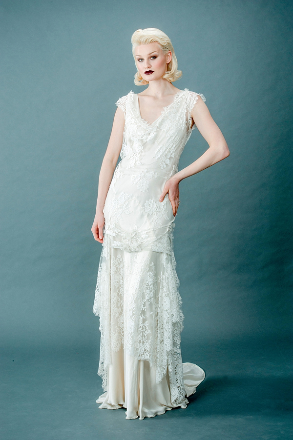 41d5cc1c9f85 aafbcdc pi - Femmes Fatale and French Fancies ~ Tinted Lace and Tea Length  Wedding Dresses