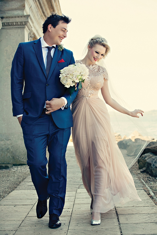 A Pale Pink Tadashi Shoji Wedding Dress Love My Dress Uk Wedding Blog Wedding Directory