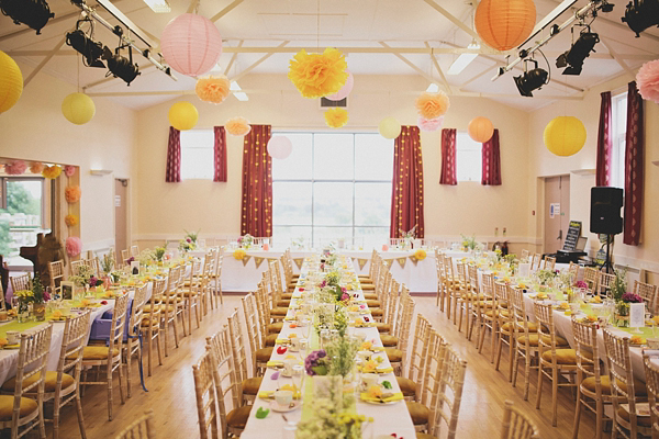 A Delightfully Bright And Yellow Handmade Diy Village Hall Wedding