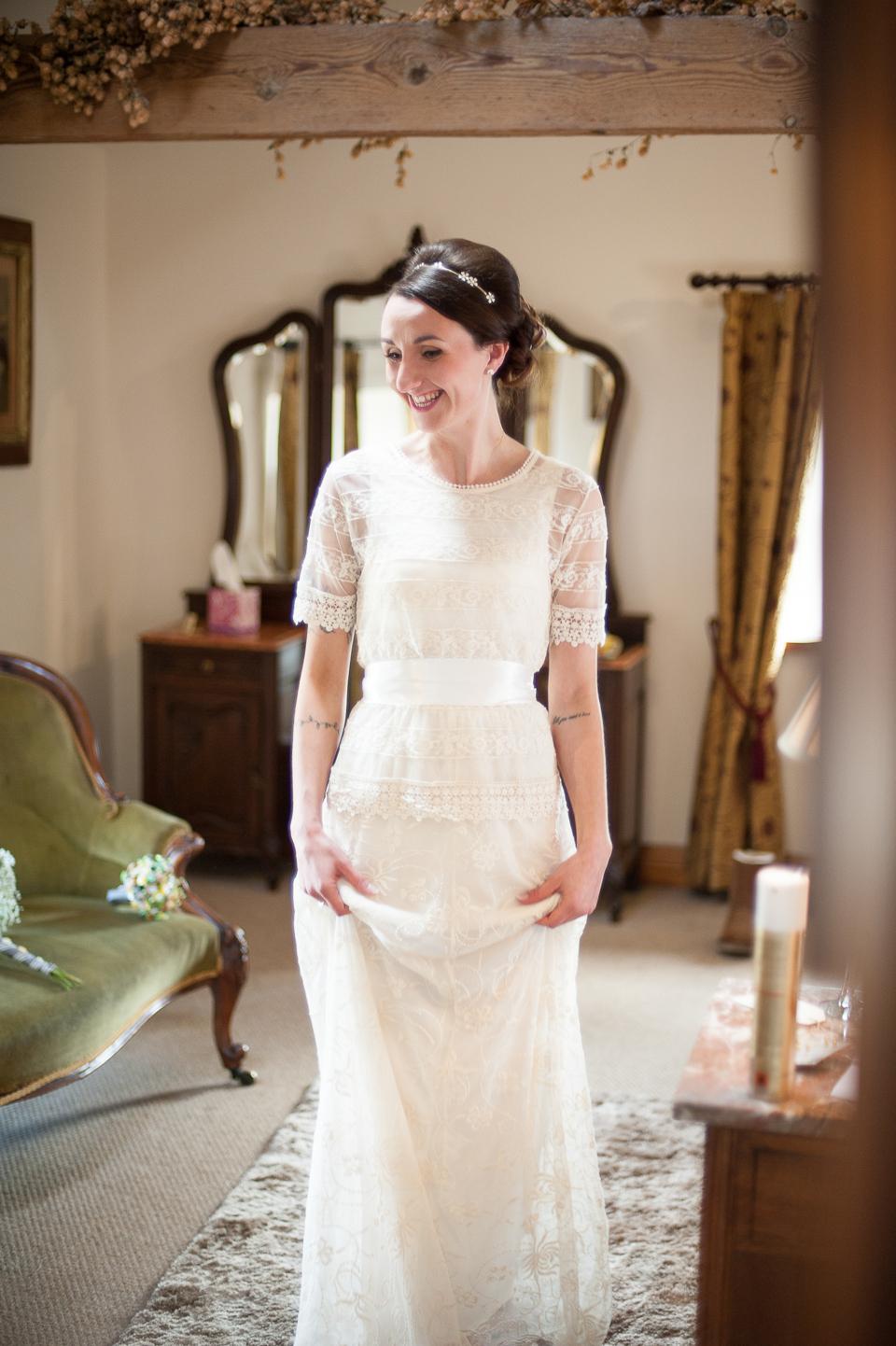 Diy Wedding Dress.A Zara Wedding Dress For A Diy And Handcrafted Spring Yellow Wedding