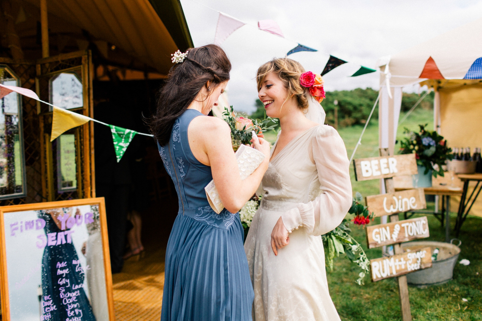 6d7e68dbf9cb2 aafbcaebcc pi - A  40s Vintage Gown for a Bohemian Bride and her Camp  Village