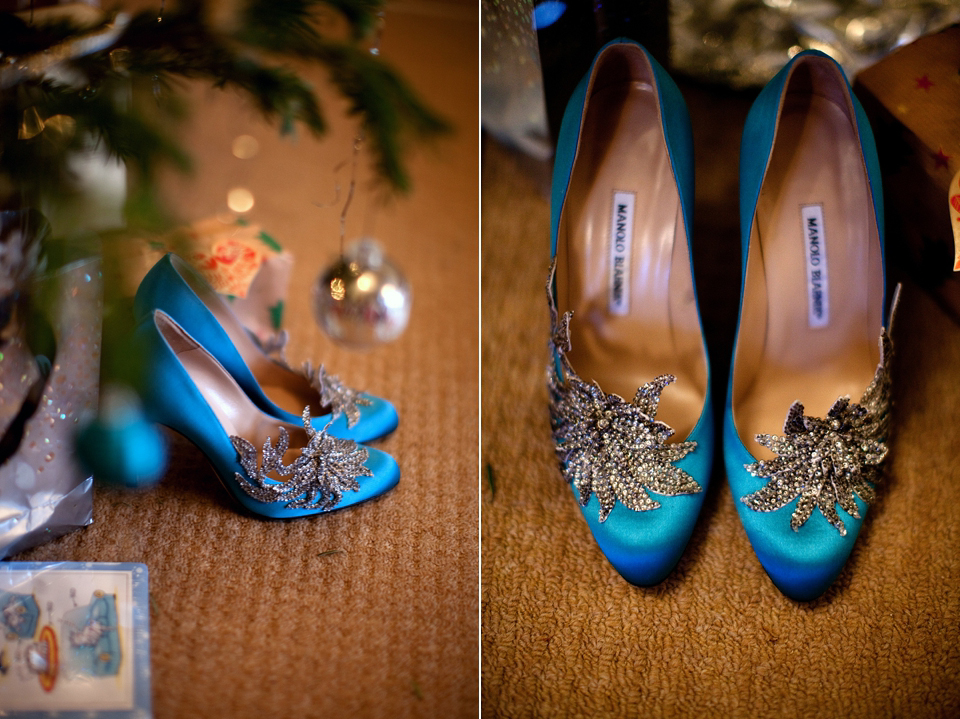 A Gold Wedding Dress For An Elegant Candlelit Winter Wedding